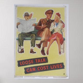 Cartel de la Segunda Guerra Mundial del vintage Posters