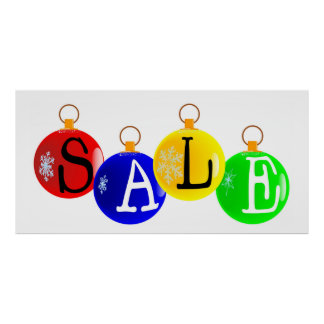 Cartel de la venta del navidad poster