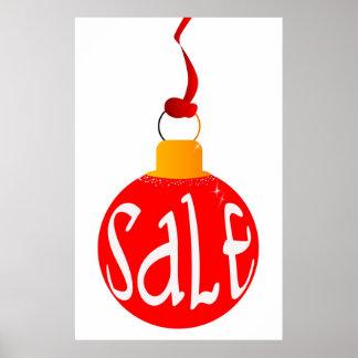 Cartel de la venta del navidad póster