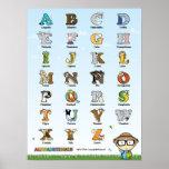 Cartel de los Alphabetimals - Versión española Posters