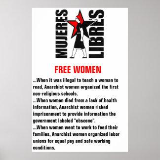 cártel de los libres de los mujeres (poster libre