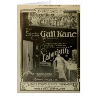 Cartel de película 1915 del vintage de Gail Kane Tarjeta De Felicitación