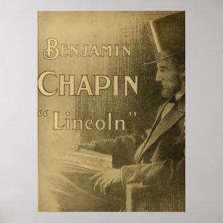Cartel de película 1917 de Lincoln de la imagen de Póster