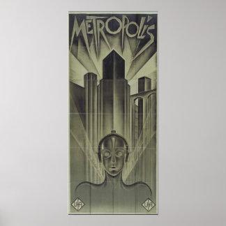 Cartel de película 1927 de la metrópoli posters