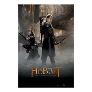 Cartel de película 2 de TAURIEL™ y de LEGOLAS Perfect Poster