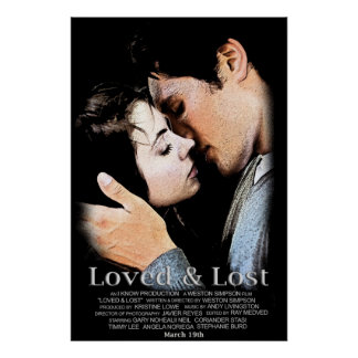 Cartel de película amado y perdido impresiones
