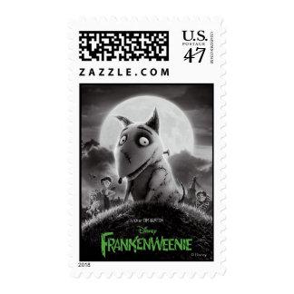 Cartel de película de Frankenweenie Sello Postal