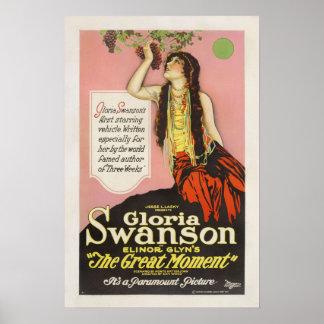 Cartel de película de Gloria Swanson Jesse Lasky Impresiones