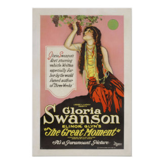 Cartel de película de Gloria Swanson Jesse Lasky Póster