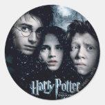 Cartel de película de Harry Potter Etiqueta Redonda