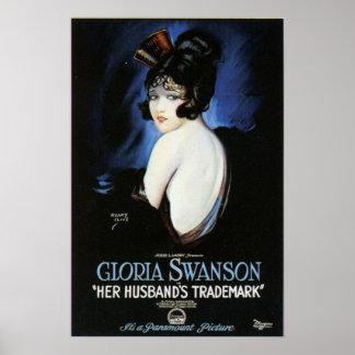 Cartel de película de la marca registrada del póster