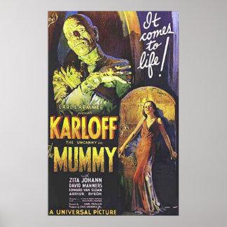 Cartel de película de la momia poster