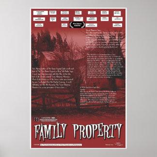 Cartel de película de la propiedad de la familia póster