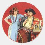 Cartel de película de los días del escarlata pegatina redonda