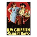 Cartel de película de los días del escarlata tarjeta
