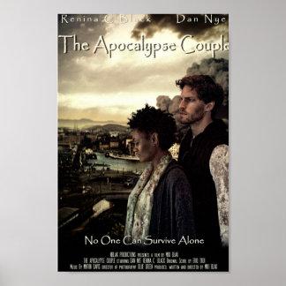 Cartel de película de los pares de la apocalipsis poster
