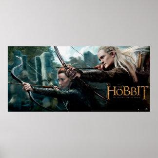 Cartel de película de TAURIEL™ y de LEGOLAS Póster
