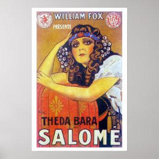 Cartel de película de Theda Bara Salome Posters