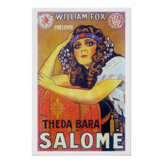 Cartel de película de Theda Bara Salome Póster