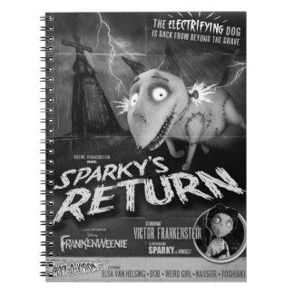 Cartel de película de vuelta vivaracho spiral notebooks