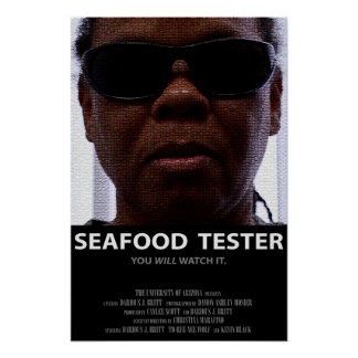 Cartel de película del probador de los mariscos (M Posters