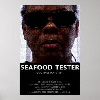 Cartel de película del probador de los mariscos (M Póster