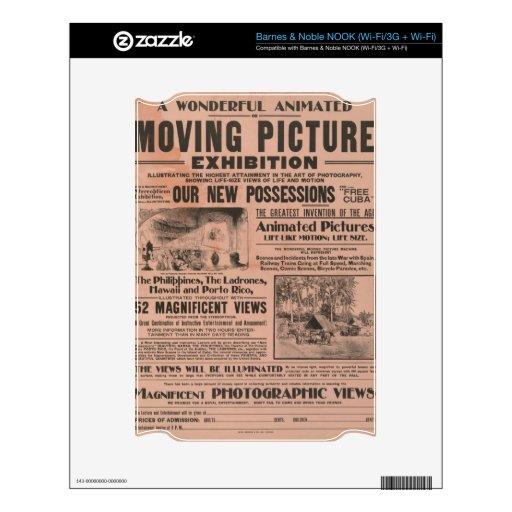Cartel de película del vintage calcomanías para NOOK
