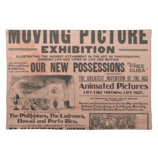 Cartel de película del vintage manteles individuales