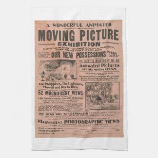 Cartel de película del vintage toallas de cocina