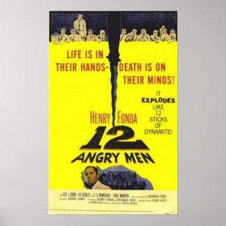 Cartel de película enojado de 12 hombres póster