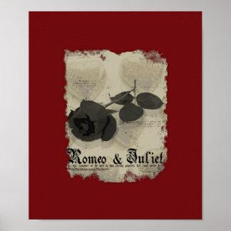 Cartel de película falso de Romeo y de Juliet Poster