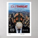 Cartel de película ocioso de la amenaza impresiones