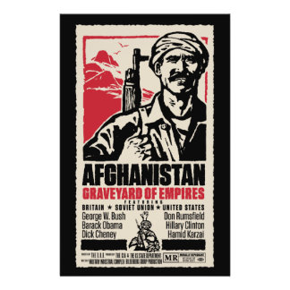 """Cartel de película pacifista de Afganistán Folleto 5.5"""" X 8.5"""""""