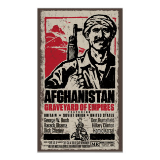 Cartel de película pacifista de Afganistán Póster