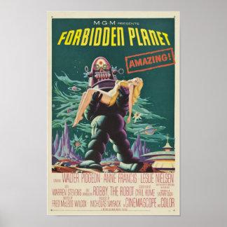 Cartel de película prohibido del monstruo del póster
