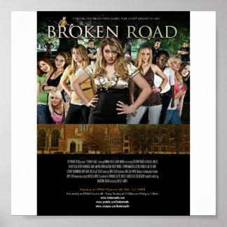 Cartel de película quebrado del camino poster