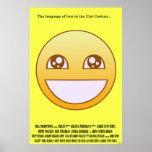 Cartel de película sonriente impresiones