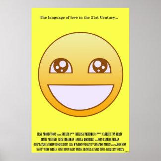 Cartel de película sonriente póster