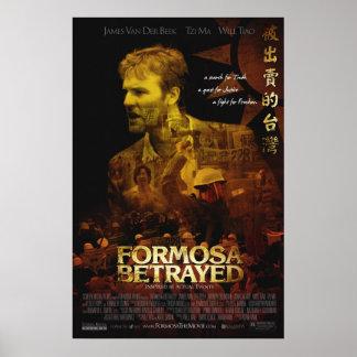Cartel de película traicionado Formosa oficial Impresiones
