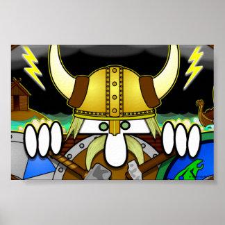 Cartel de Viking Kilroy pequeño Póster