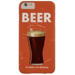 Cartel del anuncio publicitario de la cerveza del funda de iPhone 6 plus barely there