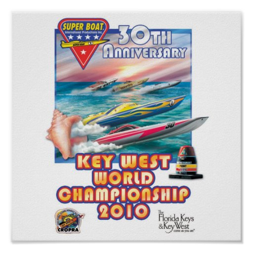 cartel del campeonato del mundo de Key West Impresiones