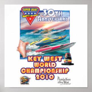 cartel del campeonato del mundo de Key West Póster