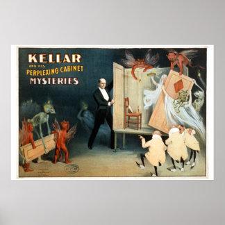 Cartel del teatro del vintage de los gabinetes de  póster