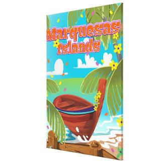 Cartel del viaje de las islas de Marquesas Impresion En Lona