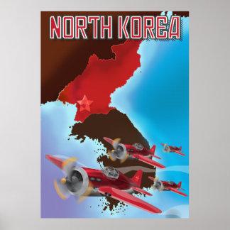 Cartel del viaje del vintage de Corea del Norte Póster