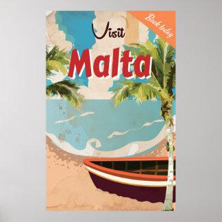 Cartel del viaje del vintage de las vacaciones de póster