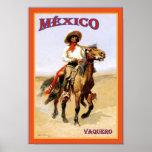 Cartel del viaje del vintage del ~ del Vaquero del Póster