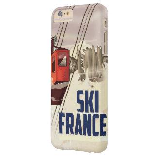 Cartel del viaje del vintage del esquí de Francia Funda Para iPhone 6 Plus Barely There