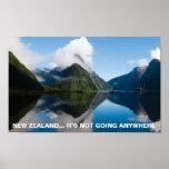 Cartel Nueva Zelanda, de FOTC no va dondequiera Póster